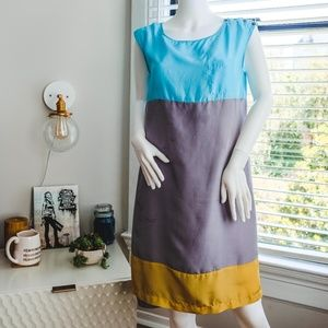 Anthropologie Color Block Light Dress